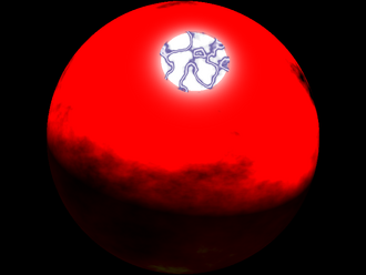 Planet Sun Right After Blast