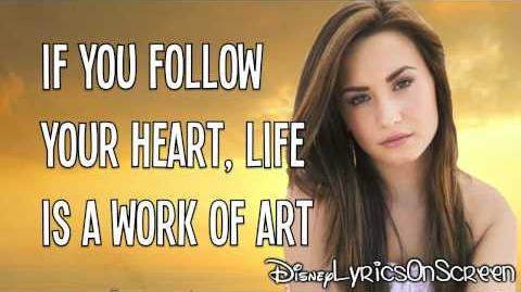 Demi Lovato - Work of Art (Lyrics Video) HD