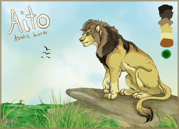 Aito the asiatic lion by nightspiritwing