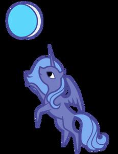 Mała Luna i księżyc by AgnessAngel