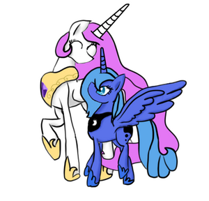 Celestia And Luna by Milakia