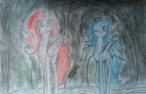 Princess Celestia and Luna (young) by Princess Luna 112