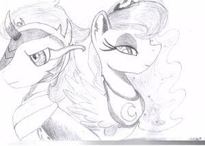 Snasza - Księżniczka Luna i Król Sombra