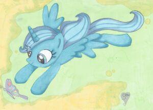 Luna goni motylka by S690