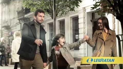 """""""Do Lewiatana jeden krok"""" - reklama Sieci Lewiatan"""