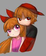Hugging blossick by riukime-dbge16b