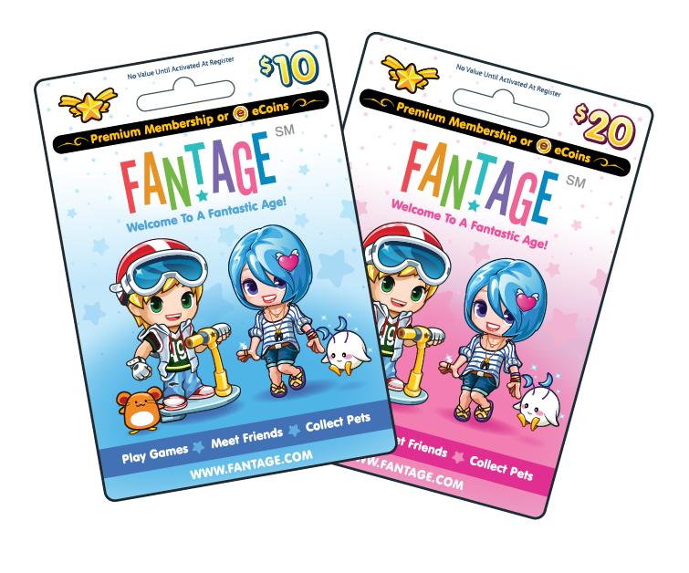 Fantage Game Card  Free Membership Cards Online