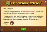 Vintage Gold Notice
