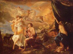 """Selene e Endimião"" de Nicolas Poussin (1594-1665). A pintura mostra a familia de Hélios."