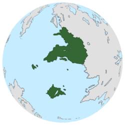 Location of Vradiazi on the globe.