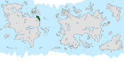 Location of Onduria on the world map.
