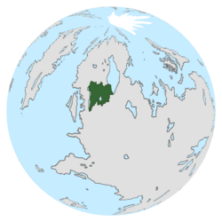 Location of Baesnia on the globe.