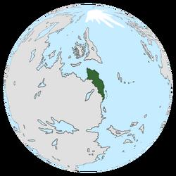 Location of Onduria on the globe.