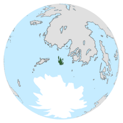 Location of the Harish Islands on the globe.
