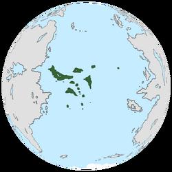 Location of Achróa on the globe.