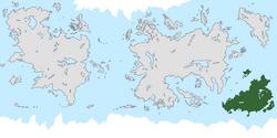 Location of Lakadamia on the world map.