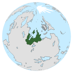 Location of Atlandia on the globe.
