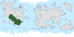 Location of Eldance on the world map.