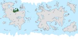 Location of Atlandia on the world map.