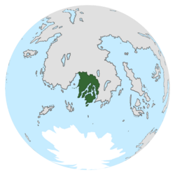 Location of Evergreen on the globe.