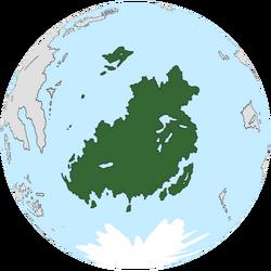 Location of Lakadamia on the globe.