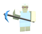 Character With Cobalt Pickaxe