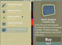 Robotic Biological Chemistry Legs