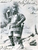 Chaliapin F. (Шаляпин Ф. И.) 1901 as Farlaf in Ruslan and Lyudmila