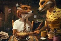 Mr Fox Breakfast Scene