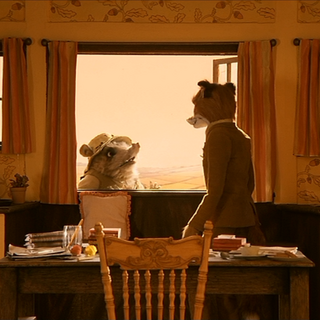 Kylie, meeting up with Mr. Fox to discuss his next plan.