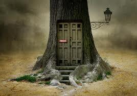 Fantasy tree door art