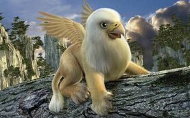 Cute baby griffin