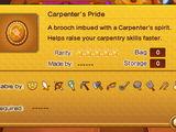 Carpenter's Pride