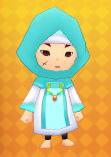 Wind set (hood, robe)