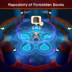 Inside Repository of Forbidden Books