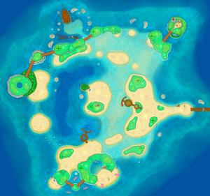 Tortuga Archipelago map