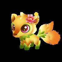 Cactus Kitsune Baby