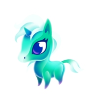 Crystal Unicorn Baby