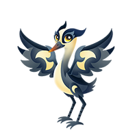 Crescent Crane Juvenile