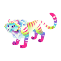 Tye-Dye Tiger Adult