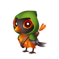 Hooded Robin Baby