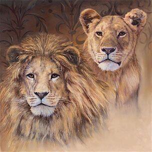 1113-schilderij-leeuw-en-leeuwin-foto-1