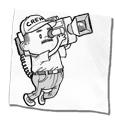 Tiny cameraman