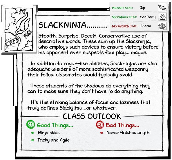 Info expanded slackninja