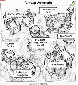 Fantasy university main