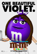 M&M's The Movie (1996) Violet Poster