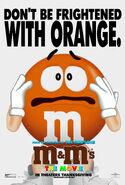 M&M's The Movie (1996) Orange Poster