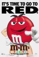 M&M's The Movie (1996) Red Poster