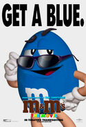 M&M's The Movie (1996) Blue Poster