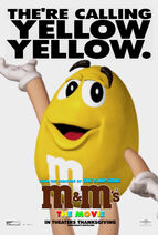 M&M's The Movie (1996) Yellow Poster
